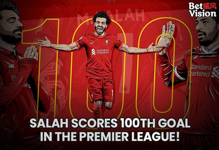 Salah scores 100th goal in EPL