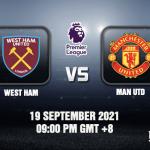 West Ham v Man Utd Prediction - EPL - 19 SEP 21